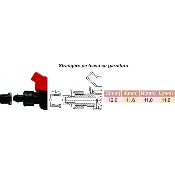 Minivana start conector cu gat tub picurare 16 mm, Palaplast #2