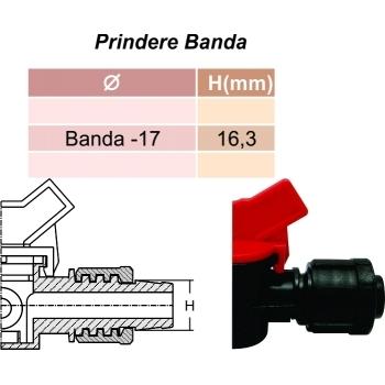 Minivana star conector cu guler banda picurare 17 mm, Palaplast #2