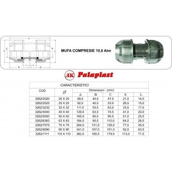 Mufa 40x40 mm, Palaplast #2