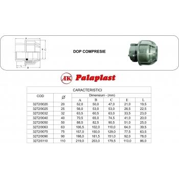 Dop compresie 50 mm, Palaplast #2
