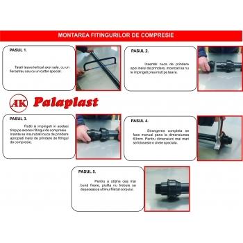 Cot compresie 25x25 mm, Palaplast #3