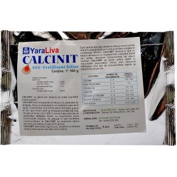 Ingrasamant solubil in apa, cu aplicare foliara si fertirigare,  Calcinit, 500 gr,  Yara