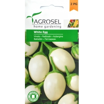 Seminte Vinete alba White Egg (1.5 gr), Agrosel, 2PG
