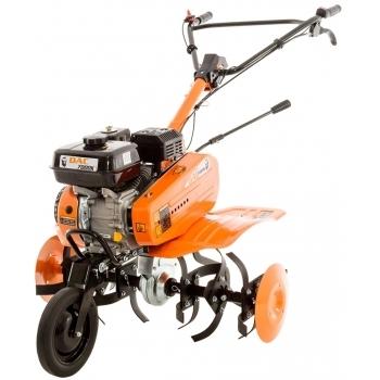 Motosapa Ruris DAC 7009ACC cu roti cauciuc+2 rarite+cultivator+plug+adaptor, benzina, putere 7 Cp, latime de lucru 56-83 cm, pornire la sfoara, 2 viteze inainte + 1 inpoi