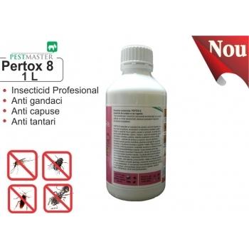 Solutie anti gandaci, muste, tantari, purici, capuse - Pertox 8 , 1L,  Pestmaster