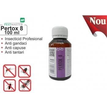 Solutie anti gandaci, muste, tantari, purici, capuse - Pertox 8 , 100 ml, Pestmaster