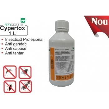 Insecticid profesional impotriva gandacilor, puricilor, mustelor, tantarilor, furnicilor - Cypertox, 1 L, Pestmaster