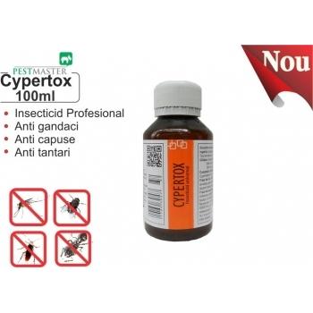 Insecticid profesional impotriva gandacilor, puricilor, mustelor, tantarilor, furnicilor - Cypertox, 100 ml, Pestmaster