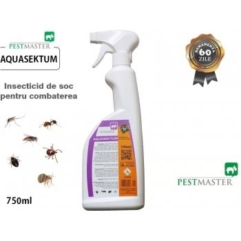 Insecticid de soc pentru combaterea insectelor taratoare si zburatoare - Aquasektum , 750 ml, Pestmaster