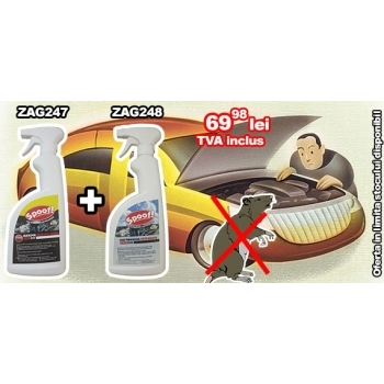 Spray impotriva mirosului de rozatoare ZAG248 (750 ml)  si Spray anti rozatoare ZAG247 (750 ml),   Pestmaster