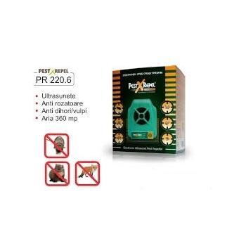 Aparat cu ultrasunete anti soareci,lilieci,vulpi,veverite (360mp) - PR 220.6 , 360mp, Pestmaster