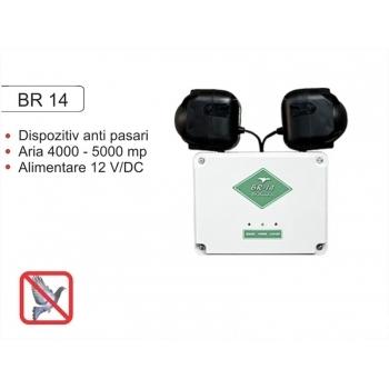 Dispozitiv electronic cu alarma acustica impotriva pasarilor daunatoare BR 14, 4000-5000mp, Pestmaster