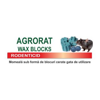 Raticid pentru combaterea rozatoarelor,   Agrorat Wax Blocks, 5 kg (1000 buc de 5 g), Farmavit