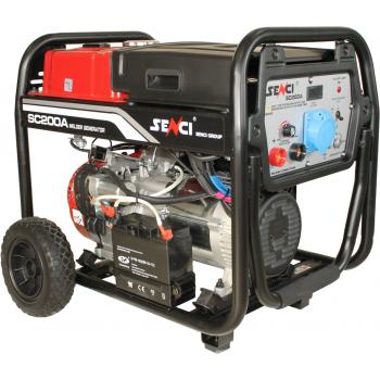 Generator de curent si pentru sudura Senci, SC-200A, monofazic, putere 5.5 kW, benzina, putere motor 14 Cp, tensiune 230 V, pornire electrica, AVR inclus, manere si roti pentru transport #2