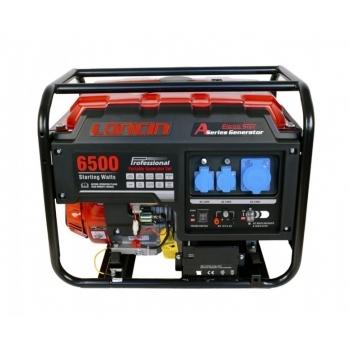 Generator de curent O-mac, LC6500D-A Series Loncin, monofazic, putere 5.5 kW, benzina, putere motor 13 Cp, tensiune 240 V, pornire electrica, AVR inclus