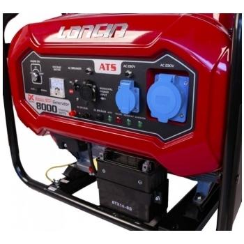 Generator de curent O-mac, LC8000D-DCS Loncin, monofazic, putere 7.0 kW, benzina, putere motor 15 Cp, tensiune 240 V, pornire electrica, AVR inclus #3
