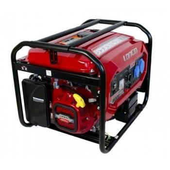 Generator de curent O-mac, LC8000D-DCS Loncin, monofazic, putere 7.0 kW, benzina, putere motor 15 Cp, tensiune 240 V, pornire electrica, AVR inclus