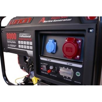 Generator de curent O-mac, LC8000D-A Series Loncin, trifazic, putere 7.0 kW, benzina, putere motor 15 Cp, tensiune 380 V, pornire electrica #4