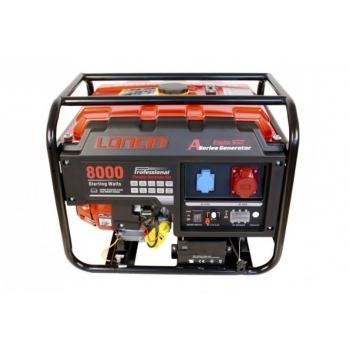 Generator de curent O-mac, LC8000D-A Series Loncin, trifazic, putere 7.0 kW, benzina, putere motor 15 Cp, tensiune 380 V, pornire electrica