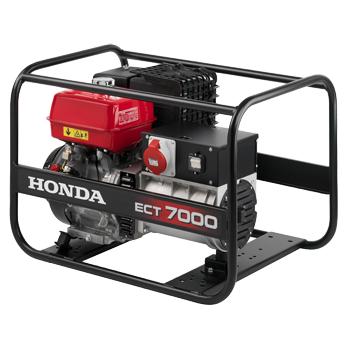 Generator de curent Honda, ECT 7000, trifazat, putere 6.5 kW, benzina, putere motor 7.5 Cp, tensiune 400 V, pornire manuala