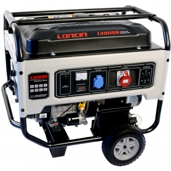 Generator de curent, LC13000S Loncin, trifazic, putere 10.0 kW, benzina, putere motor 13.4 Cp, tensiune 380 V, pornire electrica, AVR inclus