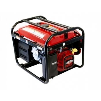 Generator de curent O-mac, LC6500DC Loncin, monofazic, putere 5,5 kW, benzina, putere motor 7.38 Cp, tensiune 220 V, pornire electrica, AVR inclus