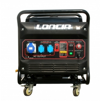 Generator de curent O-mac, LC12000 Loncin, monofazic, putere 9.5 kW, benzina, putere motor 12.7 Cp, tensiune 220 V, pornire electrica, AVR inclus
