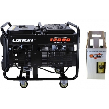 Generator de curent O-mac, LC12000 Loncin, monofazic, putere 9.5 kW, benzina, putere motor 12.7 Cp, tensiune 220 V, pornire electrica, AVR inclus #5