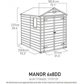 Casuta pentru gradina Keter Manor 6x8 cu usa dubla #5