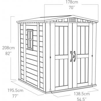 Casuta pentru gradina Keter Factor 6x6 cu usa dubla #12