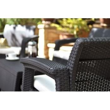 Set mobilier gradina ratan Corfu Graphite Cool Grey, 4 locuri #8