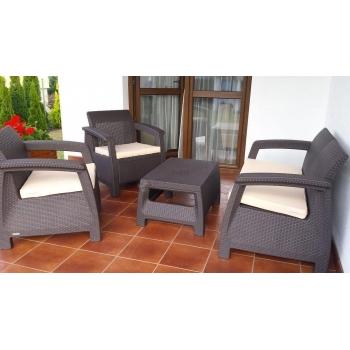 Set mobilier gradina ratan Corfu Graphite Cool Grey, 4 locuri #2