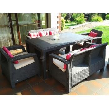Set mobilier gradina ratan Corfu Fiesta Graphite Cool Grey, 6 locuri #6