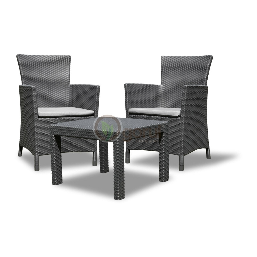 set mobilier balcon rattan rosario graphite cool grey doua locuri. Black Bedroom Furniture Sets. Home Design Ideas