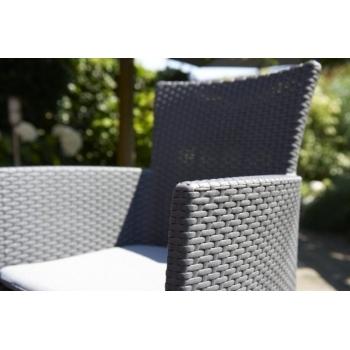 Set mobilier balcon ratan Rosario Graphite - Cool Grey, 2 locuri #7