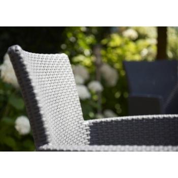 Set mobilier balcon ratan Rosario Graphite - Cool Grey, 2 locuri #8