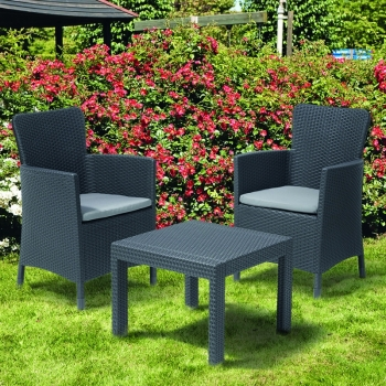 Set mobilier balcon ratan Rosario Graphite - Cool Grey, 2 locuri #6