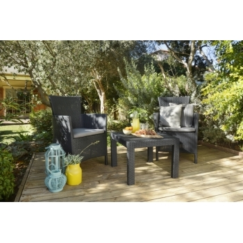 Set mobilier balcon ratan Rosario Graphite - Cool Grey, 2 locuri #2