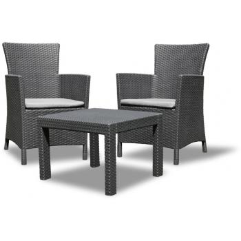 Set mobilier balcon ratan Rosario Graphite - Cool Grey, 2 locuri