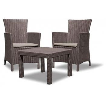 Set mobilier balcon ratan Rosario Brown - Warm Taupe, 2 locuri