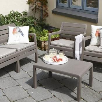 Set mobilier gradina Delano Cappucinno - Sand, 4 locuri #2