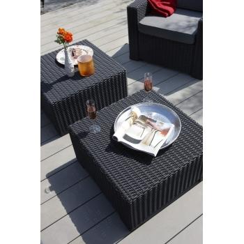 Set mobilier gradina ratan California Graphite - Coolgrey, 5 locuri #3