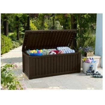 Lada depozitare Keter Rockwood Brown, capacitate 570 L #5