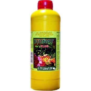 Ingrasamant lichid Bio, cu aplicare foliara,  Bionat Plus, 1L,  Panetone