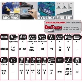 Aparat de sudura MIG/MAG Telwin Technomig 215 Dual Synergy, 220 A, 230 V #6