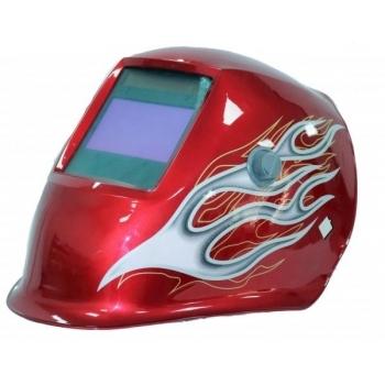 Masca de sudura cu cristale  lichide Intensiv 4 Senzori Red XL, cu filtru reglabil de la 9 la 13