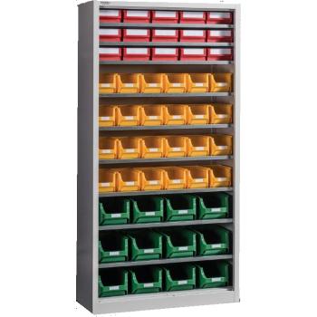 Dulap Expert Open  D-51, pentru depozitare, cu 51 cutii plastic, Metalobox