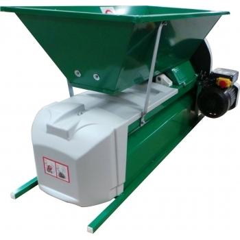 Desciorchinator cu zdrobitor electric LGCSR3, productie 1500 kg/h, cuva din tabla emailata #2