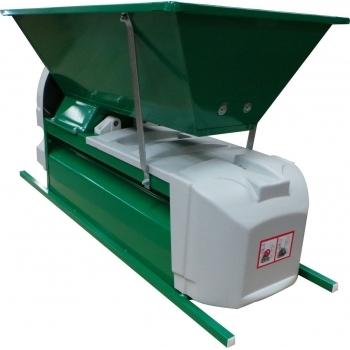Desciorchinator cu zdrobitor electric LGCSR3, productie 1500 kg/h, cuva din tabla emailata