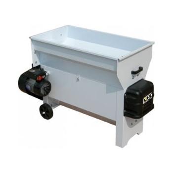 Desciorchinator cu zdrobitor electric  LDP520 si pompa centrifuga din inox, productie 2000 kg/h, cuva din tabla emailata